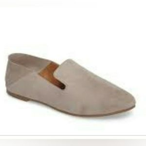 halogen collapsible back loafers grey suede